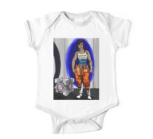 Chell and Her Companion Cube One Piece - Short Sleeve