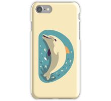 D for Dolphin iPhone Case/Skin