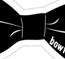 bowtiesarecool - Black Sticker