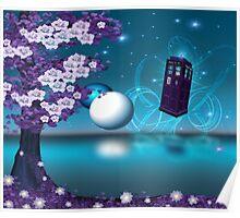 Midnight Sakura Dr Who Digital Art Poster