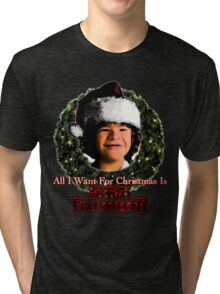 Stranger Things Christmas (Dustin Wants) Tri-blend T-Shirt