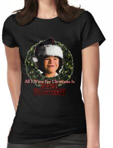 Stranger Things Christmas (Dustin Wants) Womens Fitted T-Shirt