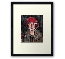 The Red Hat 1920's #1 in a Series Framed Print