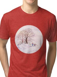 GOING HOME FOR CHRISTMAS Tri-blend T-Shirt