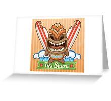 Tiki Shark Greeting Card