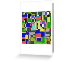 Raw Paint 3 - Abstract Colour Greeting Card