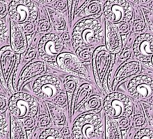 Lavender Paisley Lace  by Vickie Emms