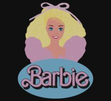 Barbie- Old Logo Baby Tee