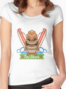 Tiki Shark Women's Fitted Scoop T-Shirt