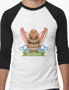 Tiki Shark Men's Baseball ¾ T-Shirt
