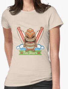 Tiki Shark Womens Fitted T-Shirt