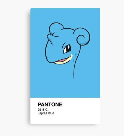 Lapras Pantone Canvas Print