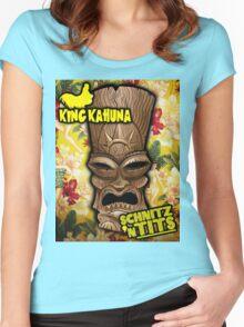 King Kahuna Schnitzel n Tits Luau Shirt! Women's Fitted Scoop T-Shirt