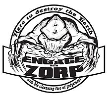 Engage with Zorp (Light) Photographic Print