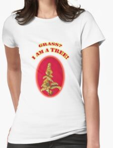 Foxy, Grass or Tree Womens Fitted T-Shirt