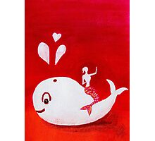 Full-moon Love - Two Loving Sea Creatures Photographic Print