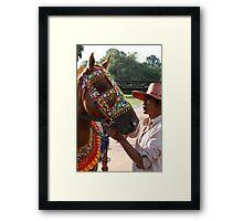 Siem Reap Horseman Framed Print
