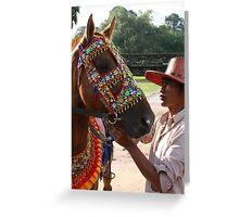Siem Reap Horseman Greeting Card