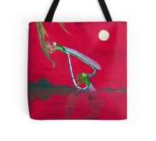 Full-moon Lover - Two Loving Dragonflies Tote Bag