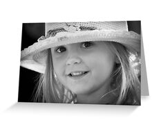 A little girl called Lucy Greeting Card