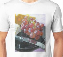 Grapes, Cheese, and knife still life Unisex T-Shirt