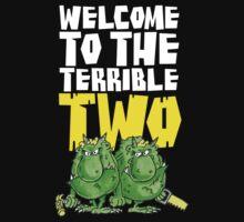 Graphic Terrible Two (dark) Kids Tee
