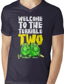 Graphic Terrible Two (dark) Mens V-Neck T-Shirt