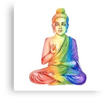 Love is Love Buddha Canvas Print