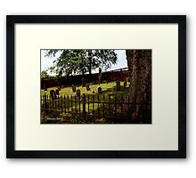 An Old Family Cemetery Framed Print