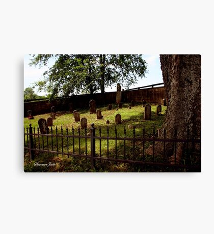 An Old Family Cemetery Canvas Print