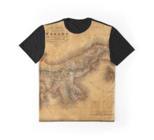 Map of Panama 1864 Graphic T-Shirt