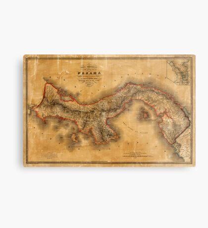 Map of Panama 1864 Metal Print