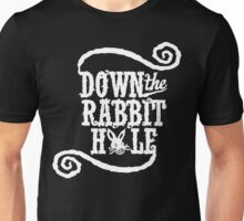 Down The Rabbit Hole - Whimsical Alice in Wonderland T Shirt Unisex T-Shirt