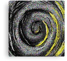 Ripples Of Colour Pixels - Abstract whirlpool Canvas Print