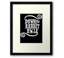 Down The Rabbit Hole - Whimsical Alice in Wonderland T Shirt Framed Print