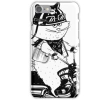 Cat biker in a cartoon style. iPhone Case/Skin