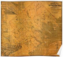 Map of Lunenburg 1864 Poster