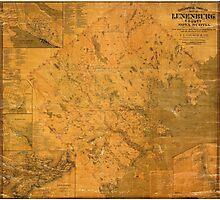 Map of Lunenburg 1864 Photographic Print