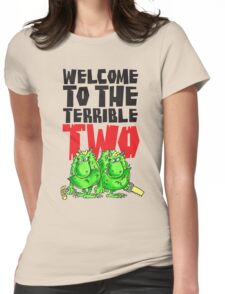 Graphic Terrible Two (white) Womens Fitted T-Shirt