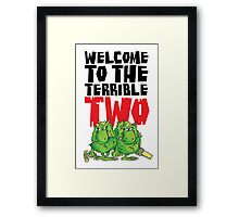 Graphic Terrible Two (white) Framed Print