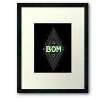 TEAM BOM Framed Print