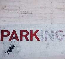 Banksy in LA by Santamariaa