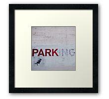 Banksy in LA Framed Print