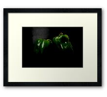 Two Peppers Framed Print