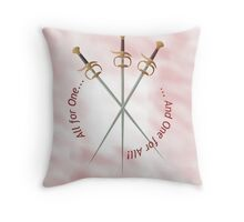 Musketeer Mantra Throw Pillow