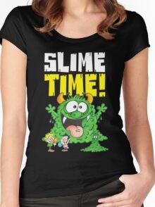 Graphic Slimey Joe (dark) Women's Fitted Scoop T-Shirt