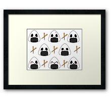 Chibi Onigiri Framed Print