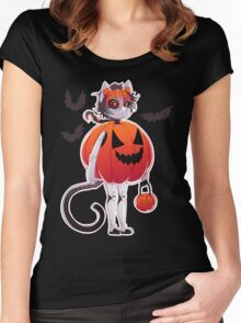 Pumpkin Suit Women's Fitted Scoop T-Shirt