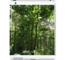 Green Leafy Forest Landscape Scene iPad Case/Skin