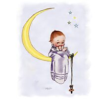 Kewpie Doll on Moon Photographic Print